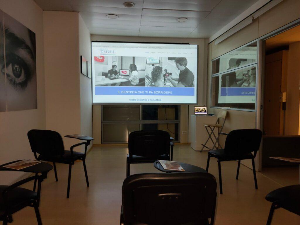 totale sala corsi studio dentistico Tomarelli a Roma